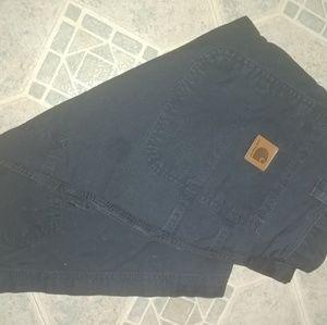 Mens Carhartt shorts size 32 navy blue